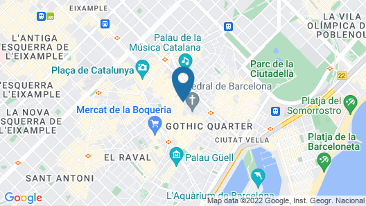 Hotel Barcelona Catedral Map