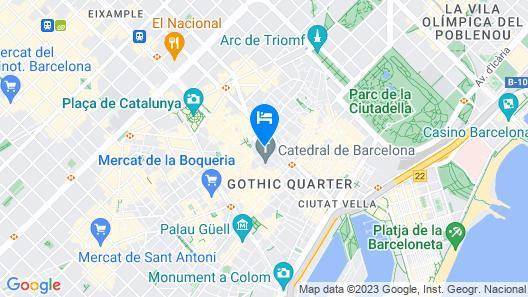 Hotel Colón Barcelona Map