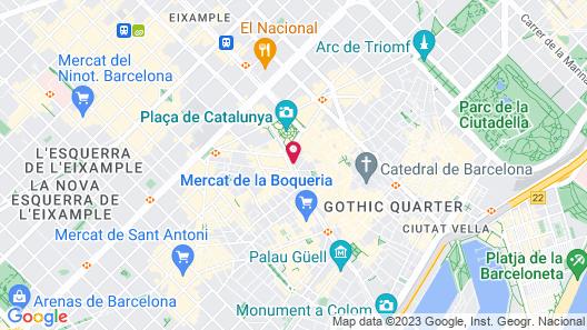 Hotel Continental Barcelona Map