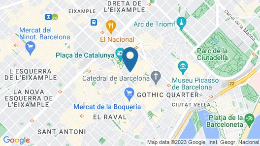 Hotel Catalunya Map