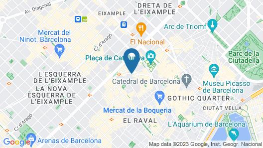 Catalonia Ramblas Map