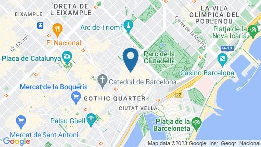 Ciutat de Barcelona Map