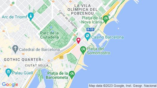 Pullman Barcelona Skipper Map