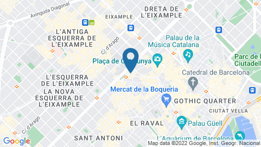 DestinationBCN Apartment Suites Map