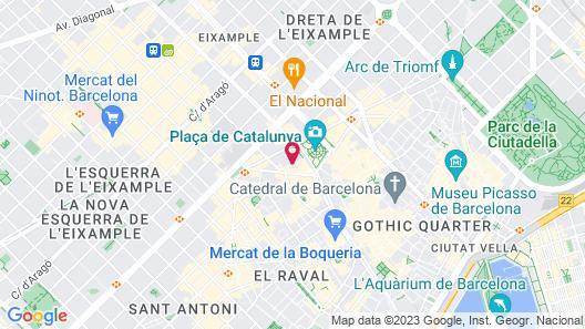 Hotel Pulitzer Barcelona Map