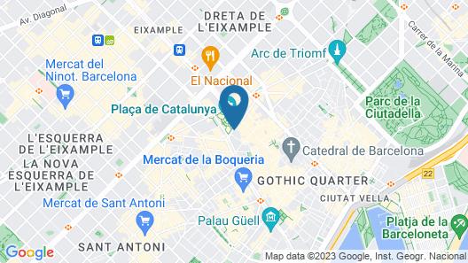 Olivia Plaza Hotel Map