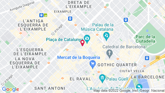 Catalonia Plaza Cataluña Map