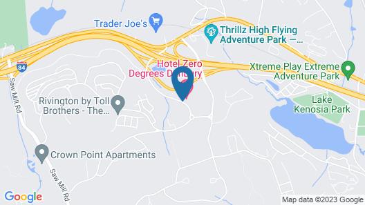 Hotel Zero Degrees Danbury Map