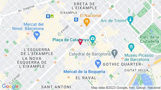 H10 Universitat Hotel Map
