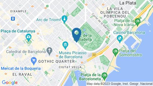 K+K Hotel Picasso El Born Map