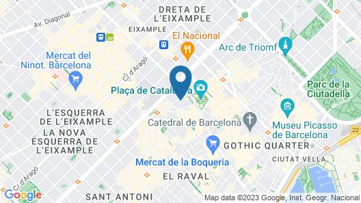 Exe Plaza Catalunya Map