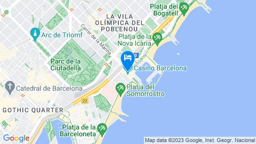Hotel Arts Barcelona Map