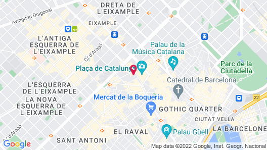 H10 Catalunya Plaza Boutique Hotel Map