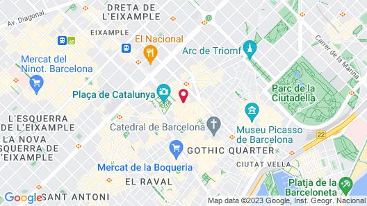 Hotel Denit Barcelona Map