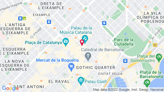 Ohla Barcelona Map