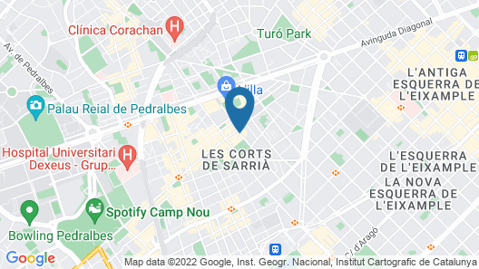 NH Barcelona Les Corts Map