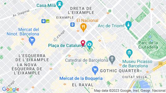 Rent Top Apartments Rambla Catalunya Map