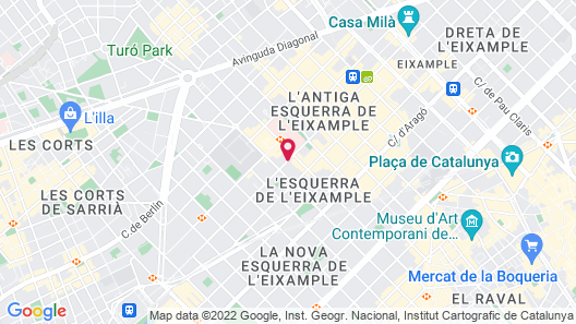 Mercedes Heritage Barcelona Apartments Map