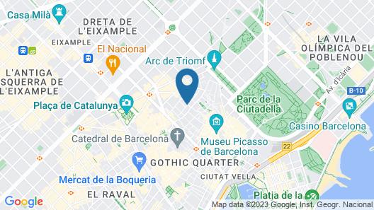 Citytrip Palau de la Música Map