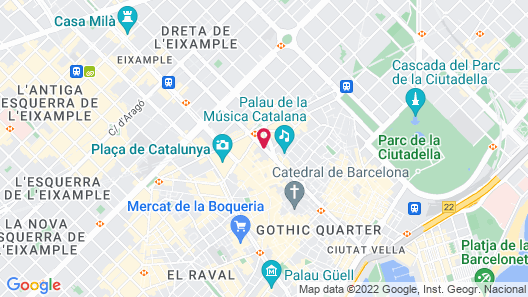 Hotel HCC MontBlanc Map