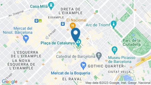 Iberostar Selection Paseo de Gracia Map