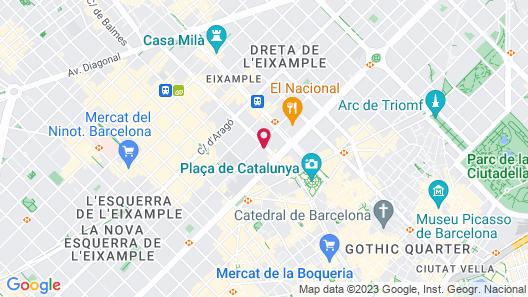 Hotel Praktik Rambla Map