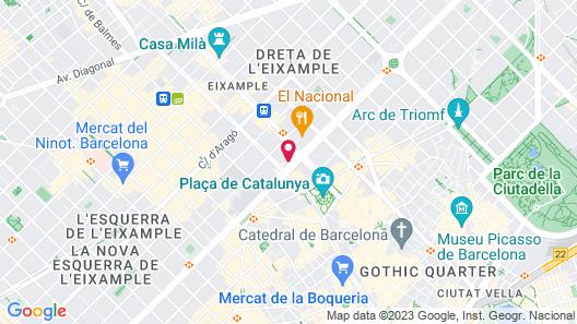 El Avenida Palace Hotel Map