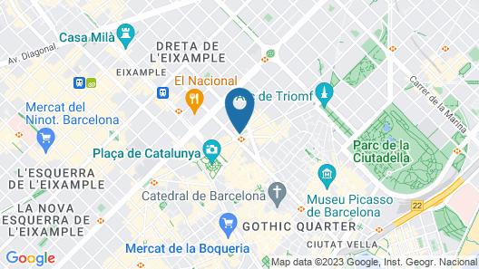 H10 Urquinaona Plaza Map