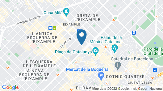 NH Collection Barcelona Gran Hotel Calderón Map