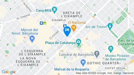 NH Collection Barcelona Gran Hotel Calderón Map