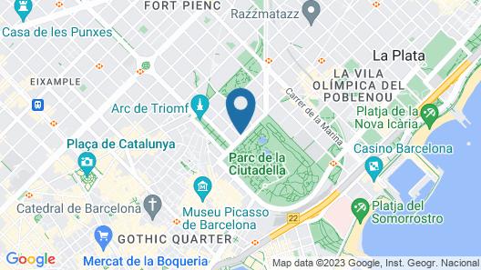 Motel One Barcelona-Ciutadella Map