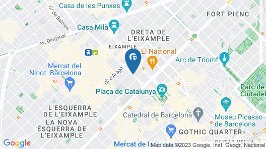 Aspasios Rambla Catalunya Suites Map
