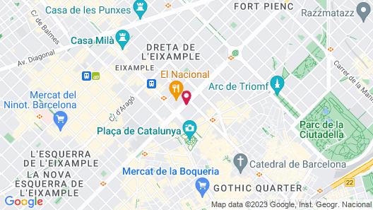 Catalonia Passeig de Gràcia Map