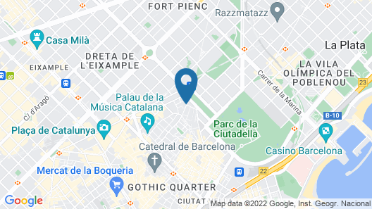 Hotel Rec Barcelona - Adults only Map