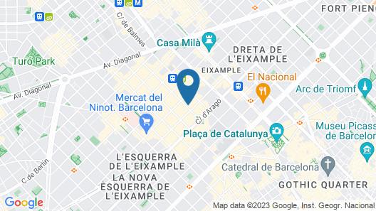 Casa Kessler Barcelona Map