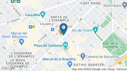 Almanac Barcelona Map