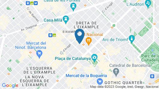 Safestay Passeig de Gracia Map