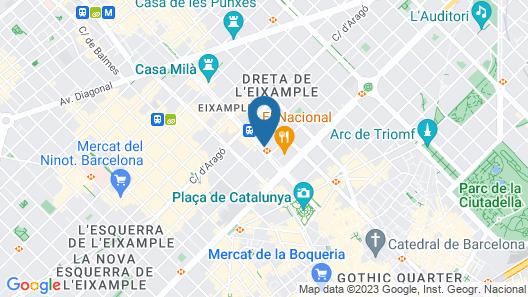 Mandarin Oriental, Barcelona Map