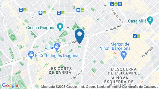 Melia Barcelona Sarrià Map