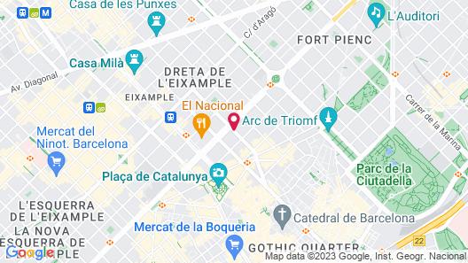 ICON BCN by Petit Palace Map