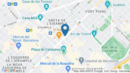 Hotel Indigo Barcelona - Plaza Catalunya, an IHG Hotel Map