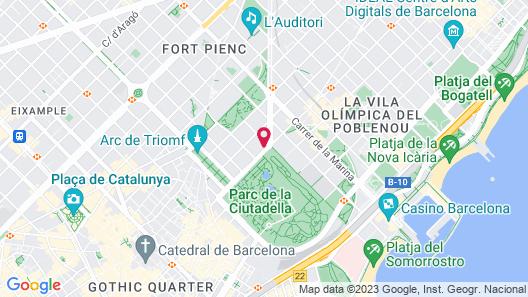 Residencia Universitaria La Ciutadella Map