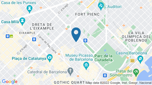 NH Collection Barcelona Pódium Map