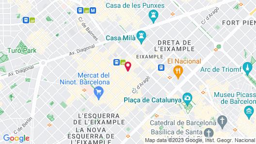 Hotel Barcelona Center Map