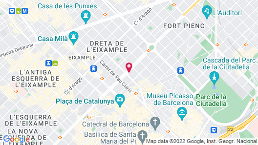 Hotel El Palace Barcelona Map