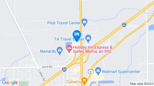 Comfort Inn Morris I-80 Map