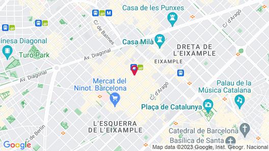 Hotel America Barcelona Map