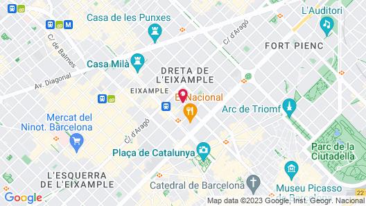 Renaissance Barcelona Hotel Map