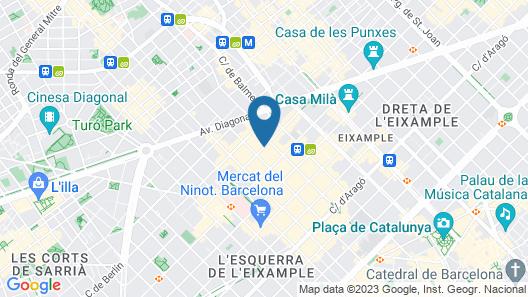 The Mirror Barcelona Map