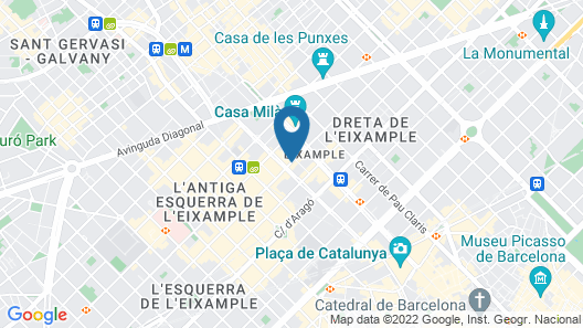 Alexandra Barcelona Hotel, Curio Collection by Hilton Map